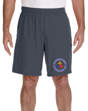 4th Armored Division Embroidered Gym Shorts (PROUD)