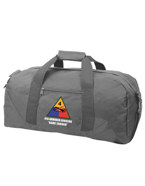 4th Armored Division Embroidered Duffel Bag