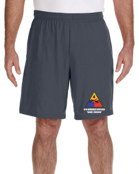 4th Armored Division Embroidered Gym Shorts