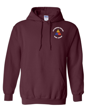 4th Armored Division Embroidered Hooded Sweatshirt (C)