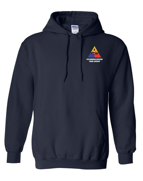 4th Armored Division Embroidered Hooded Sweatshirt