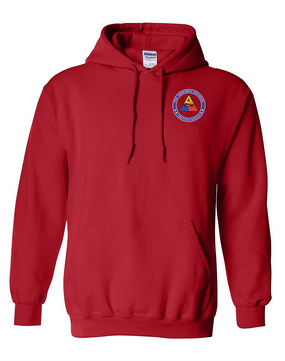 4th Armored Division Embroidered Hooded Sweatshirt (Proud)