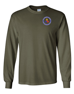 4th Armored Division  Long-Sleeve Cotton T-Shirt (Proud)