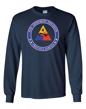 4th Armored Division  Long-Sleeve Cotton T-Shirt (Proud)(FF)