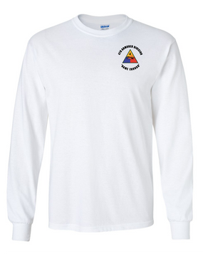 4th Armored Division  Long-Sleeve Cotton T-Shirt (C)