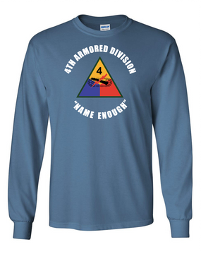 4th Armored Division  Long-Sleeve Cotton T-Shirt (C) (FF)