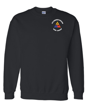 4th Armored Division Embroidered Sweatshirt  (C)
