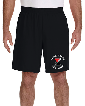 7th Infantry Division Embroidered Gym Shorts  (C)