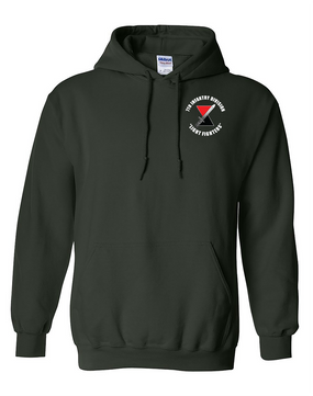 "7th Infantry Division ""Bayonet""  Embroidered Hooded Sweatshirt (C)"