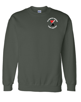 7th Infantry Division Embroidered Sweatshirt  (C)