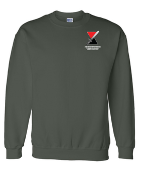 7th Infantry Division Embroidered Sweatshirt  (L)