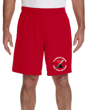 "7th Infantry Division ""Deadly""  Embroidered Gym Shorts  (C)"