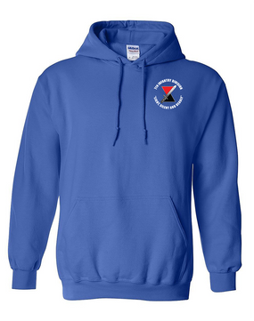 "7th Infantry Division ""Deadly""  Embroidered Hooded Sweatshirt (C)"