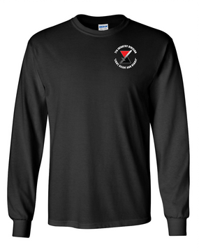 """7th Infantry Division """"Deadly""""   Long-Sleeve Cotton T-Shirt (C)"""