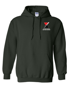 "7th Infantry Division ""Deadly""  Embroidered Hooded Sweatshirt"