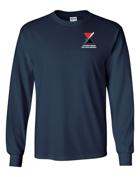 """7th Infantry Division """"Deadly""""   Long-Sleeve Cotton T-Shirt"""