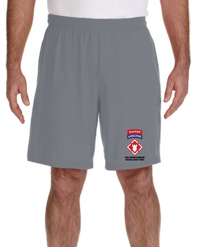 "20th Engineers (Airborne) ""Sapper""  Embroidered Gym Shorts"