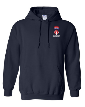"20th Engineers (Airborne) ""Sapper""  Embroidered Hooded Sweatshirt"
