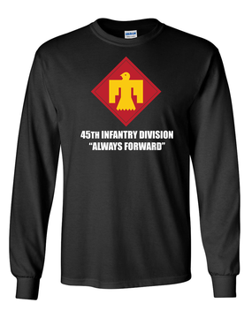 45th Infantry Division Long-Sleeve Cotton T-Shirt (FF)