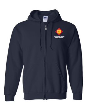 45th Infantry Division Embroidered Hooded Sweatshirt with Zipper