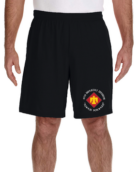 45th Infantry Division Embroidered Gym Shorts  (C)
