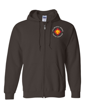 45th Infantry Division Embroidered Hooded Sweatshirt with Zipper (C)