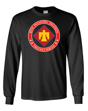 45th Infantry Division Long-Sleeve Cotton T-Shirt (FF)-Proud