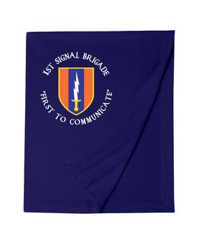 1st Signal Brigade Embroidered Dryblend Stadium Blanket  (C)