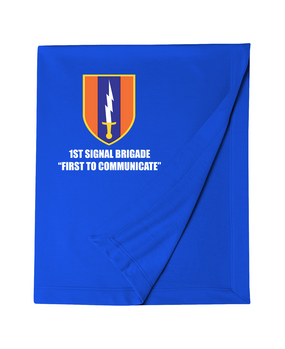 1st Signal Brigade Embroidered Dryblend Stadium Blanket