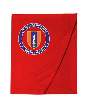 1st Signal Brigade Embroidered Dryblend Stadium Blanket -Proud