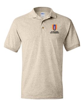 1st Signal Brigade Embroidered Cotton Polo Shirt