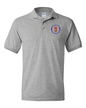 1st Signal Brigade Embroidered Cotton Polo Shirt -Proud