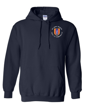 1st Signal Brigade Embroidered Hooded Sweatshirt (C)