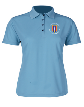 1st Signal Brigade Ladies Embroidered Moisture Wick Polo Shirt (C)