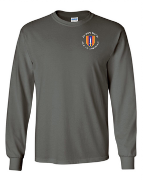 1st Signal Brigade Long-Sleeve Cotton T-Shirt -(C)