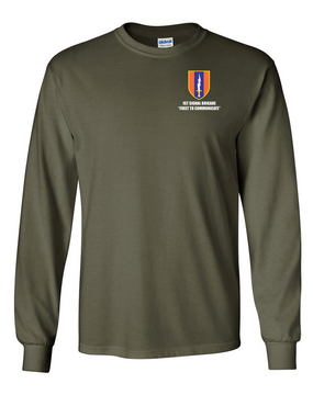 1st Signal Brigade Long-Sleeve Cotton T-Shirt