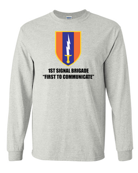 1st Signal Brigade Long-Sleeve Cotton T-Shirt (FF)