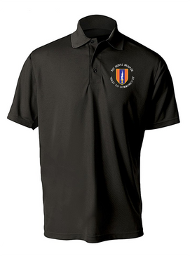 1st Signal Brigade Embroidered Moisture Wick Polo Shirt (C)