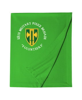 18th Military Police Brigade Embroidered Dryblend Stadium Blanket  (C)