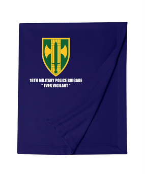18th Military Police Brigade Embroidered Dryblend Stadium Blanket