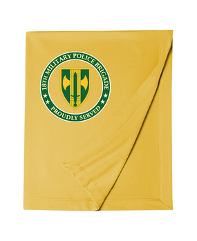 18th Military Police Brigade Embroidered Dryblend Stadium Blanket -Proud