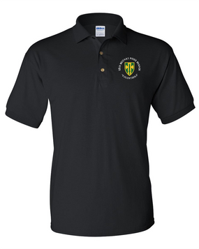 18th Military Police Brigade Embroidered Cotton Polo Shirt  (C)