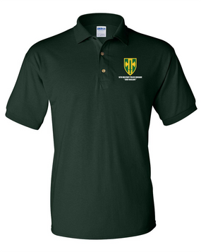 18th Military Police Brigade Embroidered Cotton Polo Shirt
