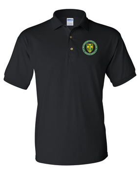 18th Military Police Brigade Embroidered Cotton Polo Shirt -Proud