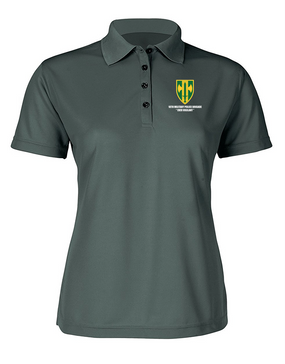 18th Military Police Brigade Ladies Embroidered Moisture Wick Polo Shirt
