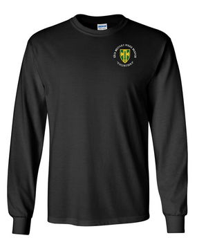 18th Military Police Brigade Long-Sleeve Cotton T-Shirt -(C)