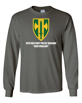 18th Military Police Brigade Long-Sleeve Cotton T-Shirt  (FF)