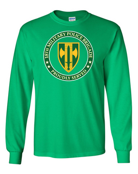 18th Military Police Brigade Long-Sleeve Cotton T-Shirt -Proud (FF)