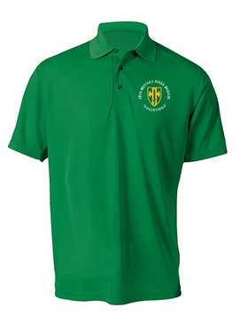 18th Military Police Brigade Embroidered Moisture Wick Polo Shirt (C)