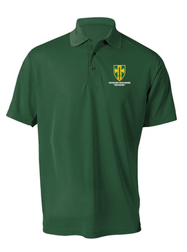 18th Military Police Brigade Embroidered Moisture Wick Polo Shirt